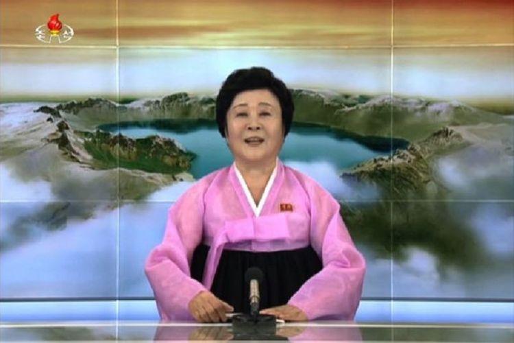 Penyiar berita terkemuka Korea Utara, Ri Chun Hee