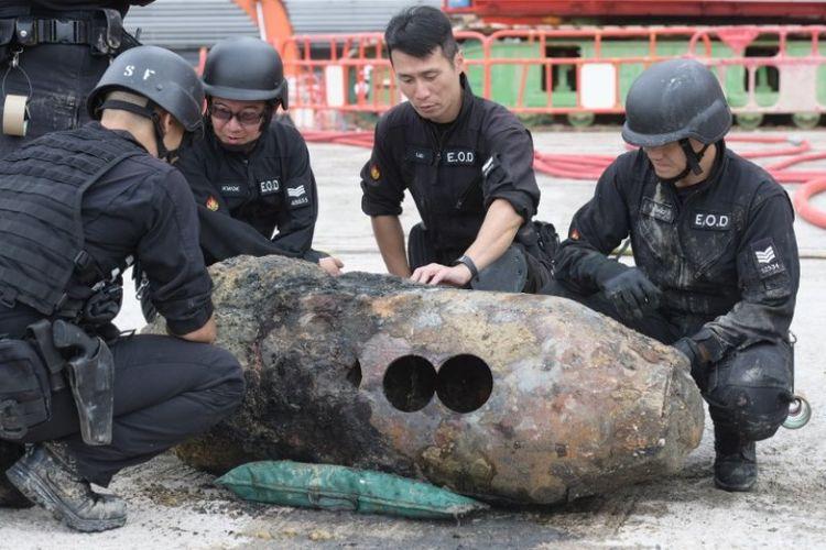 Jinakkan Bom Sisa PD II, Polisi Hong Kong Evakuasi 1.200 Warga