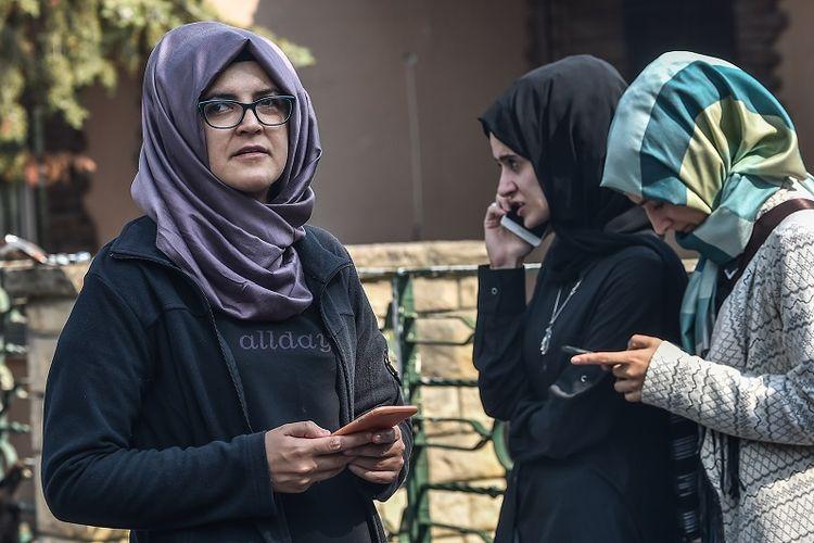Hatice (36), tunangan jurnalis ternama Arab Saudi Jamal Khashoggi yang hilang sejak Selasa (2/10/2018).