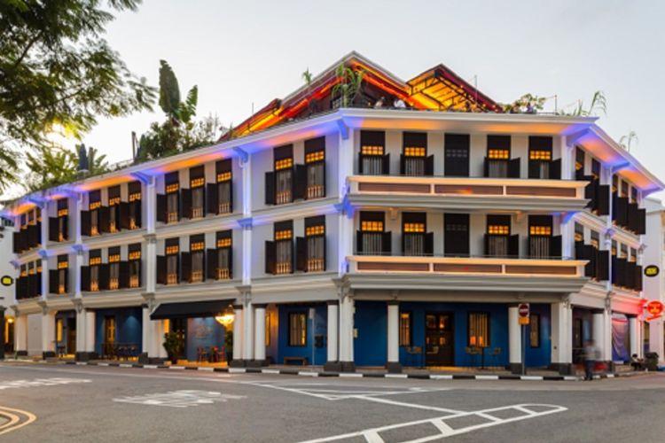 Tampilan baru Ann Siang House, Singapura.