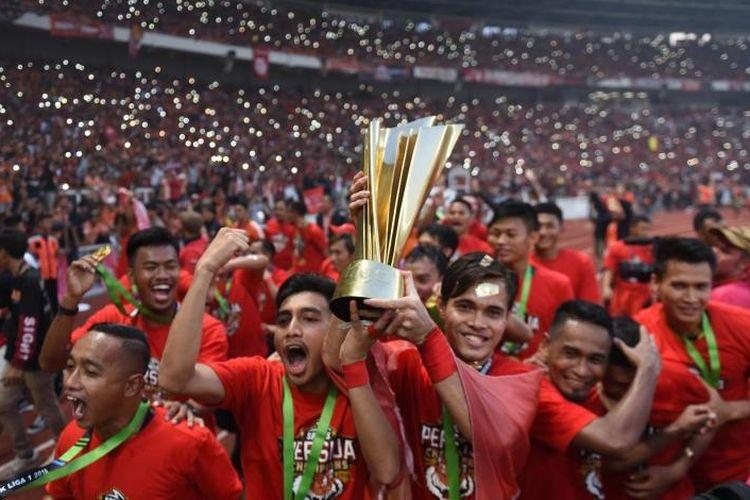 Persija Jakarta meraih juara Liga 1 2018, Rabu (24/4/2019)