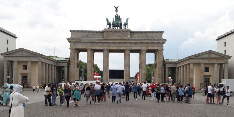 Brandenburg Gate di Berlin, Jerman, Kamis (21/6/2018).
