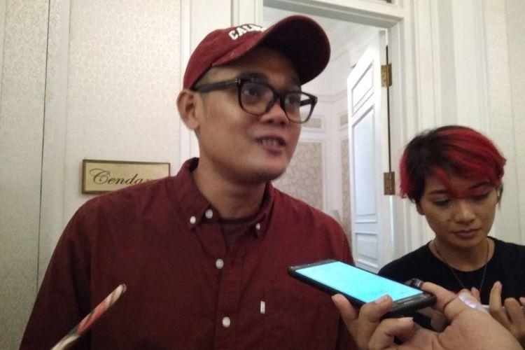 VP of Marketing Bukalapak Bayu Syerli ketika ditemui wartawan di Jakarta, Selasa (3/6/2018).