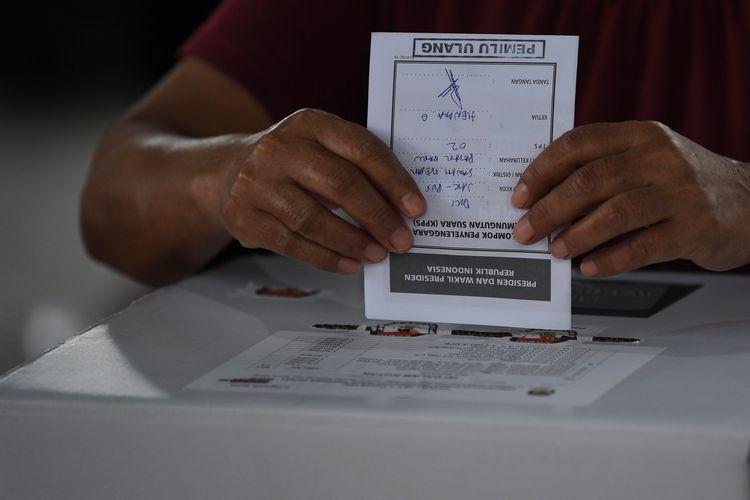 Ilustrasi pemungutan suara ulang (PSU).