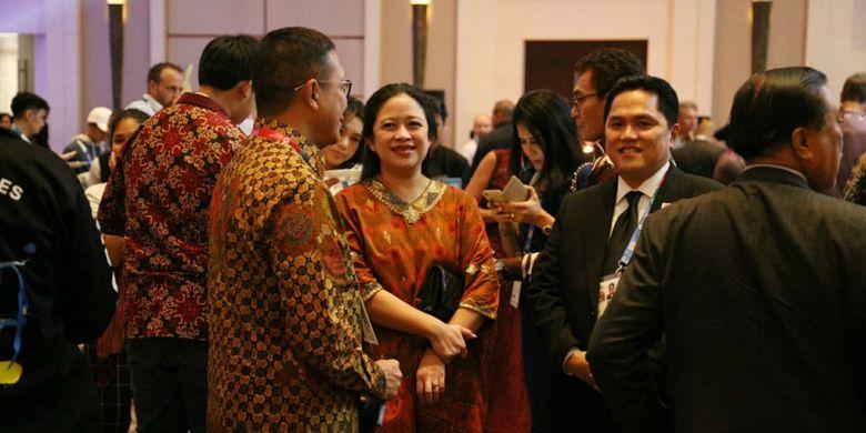 Menko Pmk Puan Maharani Bersama Ketua Inasgoc Menghadiri Jamuan Makan Malam Jelang Upacara Penutupan Asian Games