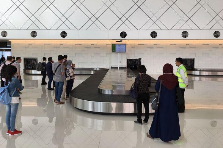 Suasana di terminal baru Bandara Internasional Ahmad Yani di Kota Semarang, Jawa Tengah, Kamis (7/6/2018). Presiden Joko Widodo direncanakan meresmikan bangunan terminal baru untuk beroperasi secara penuh pada hari ini.