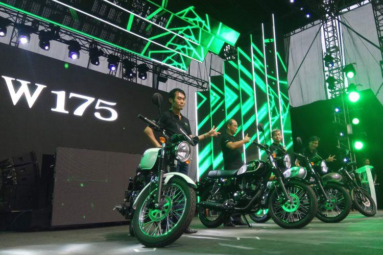 Kawasaki W175 diluncurkan pada event Kawasaki Bike Week (KBW) 2017 di Ancol, Jakarta Utara, Sabtu (18/11/2017).