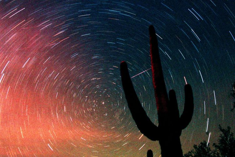 hujan meteor Leonid 2001di Arizona