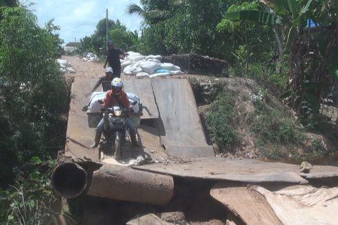 Jembatan yang Ambruk di Ogan Ilir Mulai Diperbaiki