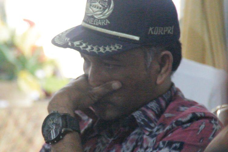 Kepala Sekolah SMAN 1 Sembalun, Lombok Timur, Sadikin Ali, saat mengikuti rapat kordinasi dengan KPAI di Kantor Dinas Pendidikan dan Kebudayaan NTB, Kamis lalu (23/5/2019).