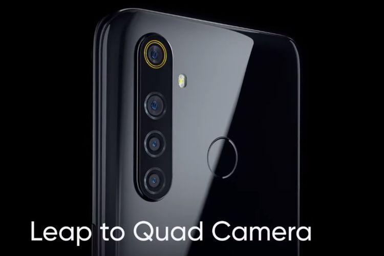 Ilustrasi konfigurasi kamera belakang Realme 5