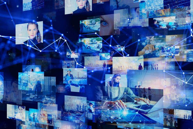 Ilustrasi platform digital untuk menonton film terutama di era pandemi Covid-19.