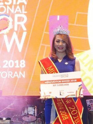 Miss Motor Show 2018 adalah Novita Sari dari Suzuki.