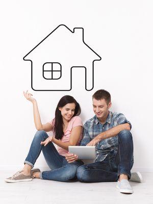 Ilustrasi pasangan muda berencana punya rumah