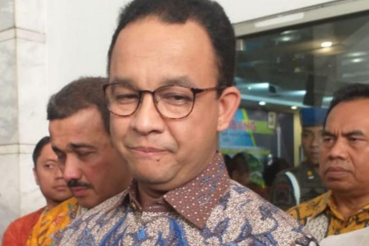 Gubernur DKI Jakarta Anies Baswedan di Kantor Wali Kota Jakarta Timur, Kamis (28/3/2019).