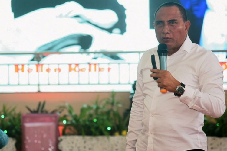 Gubernur Sumatera Utara Edy Rahmayadi meminta kepala desa, lurah dan camat memiliki program konkret untuk mensejahterakan masyarakat, Selasa (20/11/2018)
