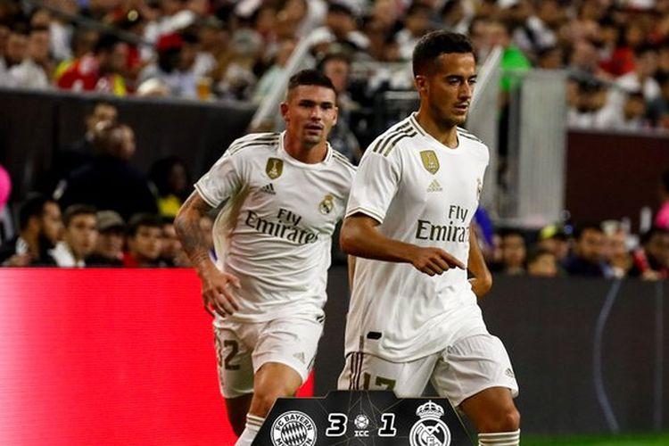 Rodrygo Goes mencetak satu gol El Real pada laga Bayern Muenchen vs Real Madrid dalam lanjutan ICC 2019, 20 Juli 2019.