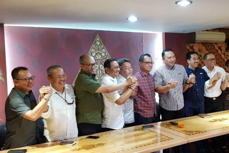 Konferensi pers oleh Inaca soal penyesuaian harga tiket pesawat di Jakarta, Minggu (13/1/2019).