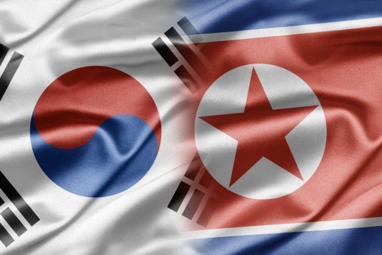 Bendera Korea Selatan dan Korea Utara (Asian Correspondent)