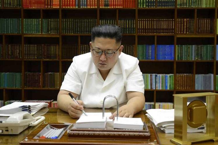 Pemimpin Korea Utara, Kim Jong Un.