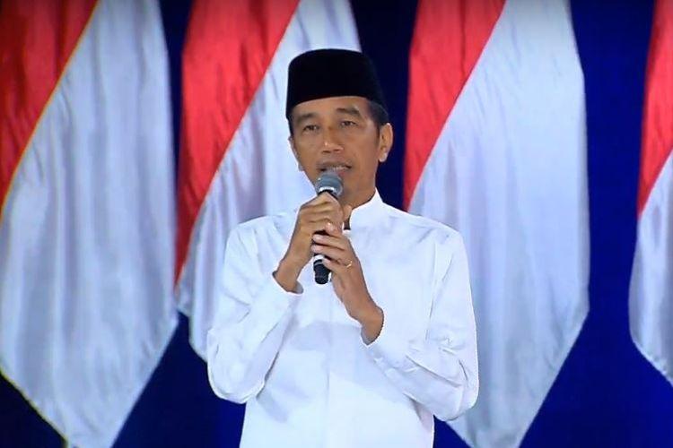 Capres nomor urut 01 Joko Widodo dalam Debat Pilpres kelima