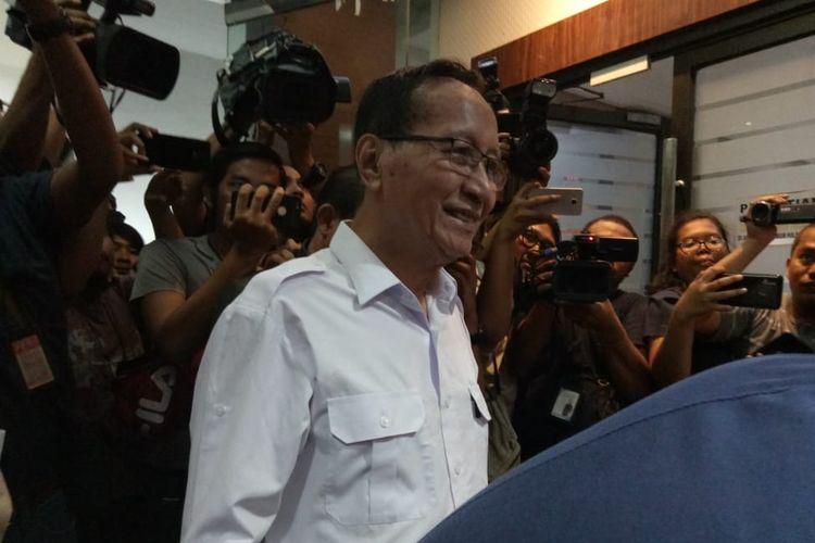 Mantan Kapolda Metro Jaya, Komjen (Purn) Pol Muhammad Sofyan Jacob di Ditreskrimum Polda Metro Jaya, Senin (17/6/2019).