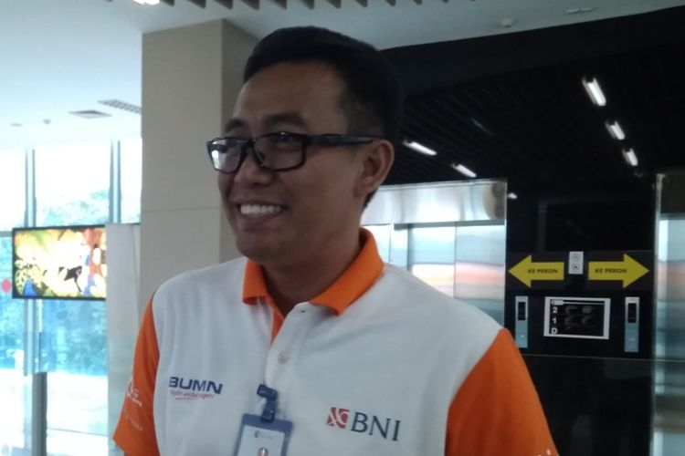 Direktur Utama PT Railink Heru Kuswanto di Stasiun BNI City, Jumat (8/6/2018).