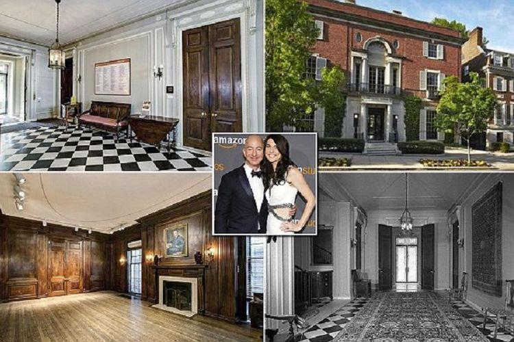 Beberapa bagian rumah milik Jeff Bezos di Washington DC, Amerika Serikat.