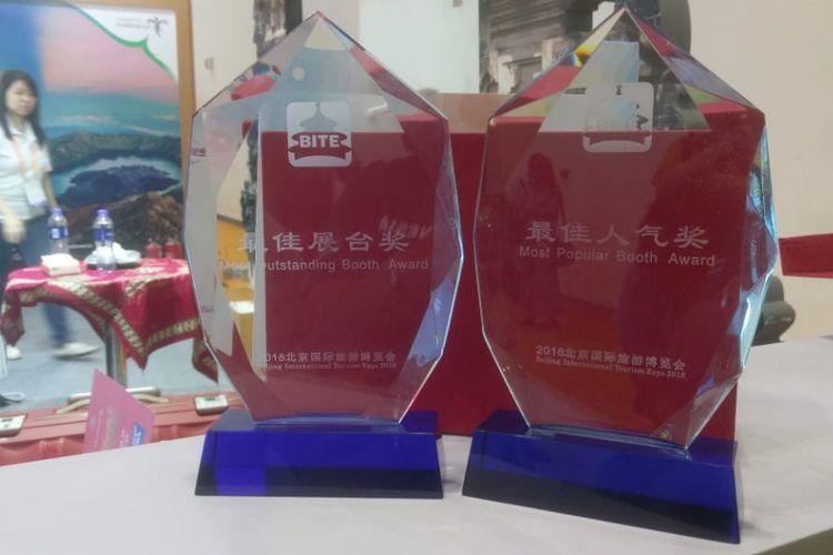 Wonderful Indonesia meraih dua penghargaan sebagai Most Popular Both Awards dan Most Outstanding Both Awards pada pameran pariwisata Beijing International Travel Expo (BITE) 2018 yang dilaksanakan di China National Convention Center, Beijing pada 15-17 Juni 2018.