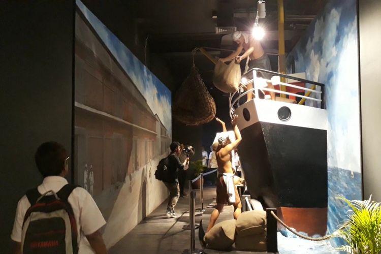 Salah satu diorama yang berada di Museum Maritim Indonesia, Jakarta Utara, Jumat (7/12/2018).