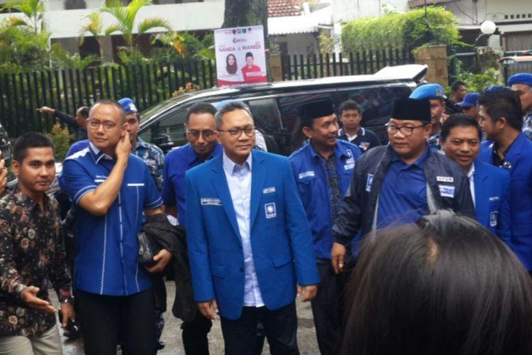 Ketua Umum PAN Zulkifli Hasan saat menghadiri konsolidasi partainya di Gedung Kartini, Kota Malang, Senin (5/2/2018)