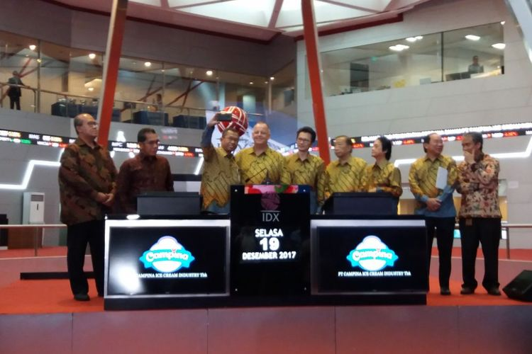 PT Campina Ice Cream Industry Tbk resmi melantai di bursa