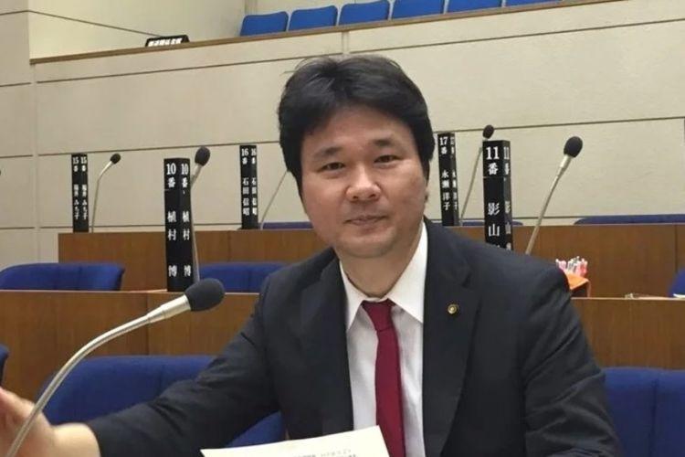 Dewan Kota Shiroi Prefektur Chiba, Kenichiro Wada, yang dilarang masuk Hong Kong lantaran dituduh mendukung kemerdekaan Taiwan.