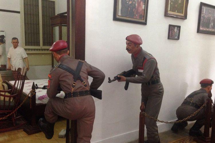 Diorama di dalam Museum Jenderal AH Nasution