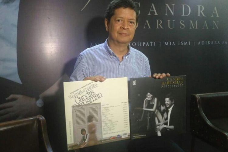 Musisi jazz senior Candra Darusman saat merilis singel Pengungkapan Hatimu dan album remastered Kekagumanku di kawasan Gandaria, Kebayoran Baru, Jakarta Selatan, Kamis (29/11/2018).