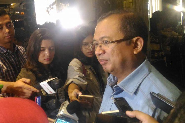 Wakil ketua Badan Pemenangan Nasional (BPN) Priyo Budi Santoso dalam diskusi Jelang Debat Siapa Hebat di Jakarta, Sabtu (12/1/2019).