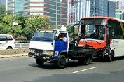 Sopir Minitrans yang Terguling di Jalan Gatot Subroto Diamankan Polisi