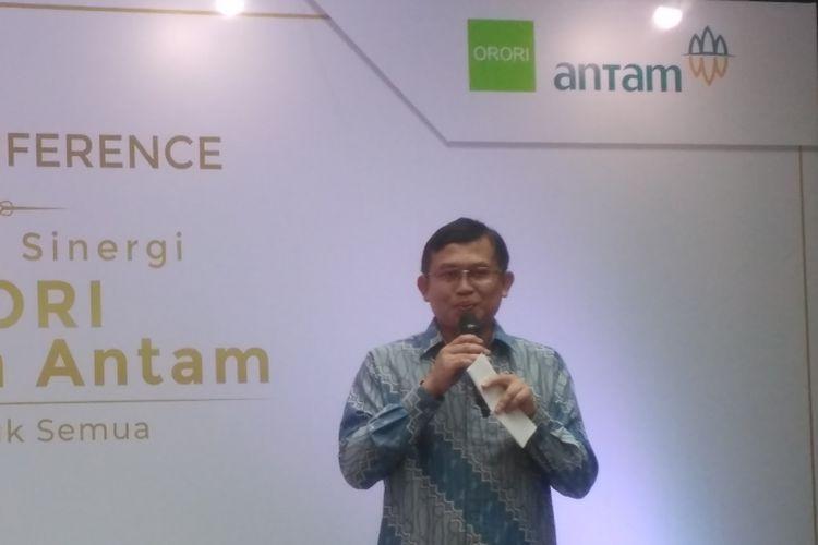 General Manager Unit Bisnis Pengolahan dan Pemurnian Logam Mulia Antam, Abdul Hadi Aviciena di Jakarta, Selasa (6/11/2018).
