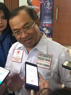 Wakil Ketua Badan Pemenangan Nasional (BPN) Prabowo Subianto-Sandiaga Uno, Priyo Budi Santoso, saat ditemui di Kantor Komisi Pemilihan Umum (KPU), Jakarta Pusat, Jumat (4/1/2019).