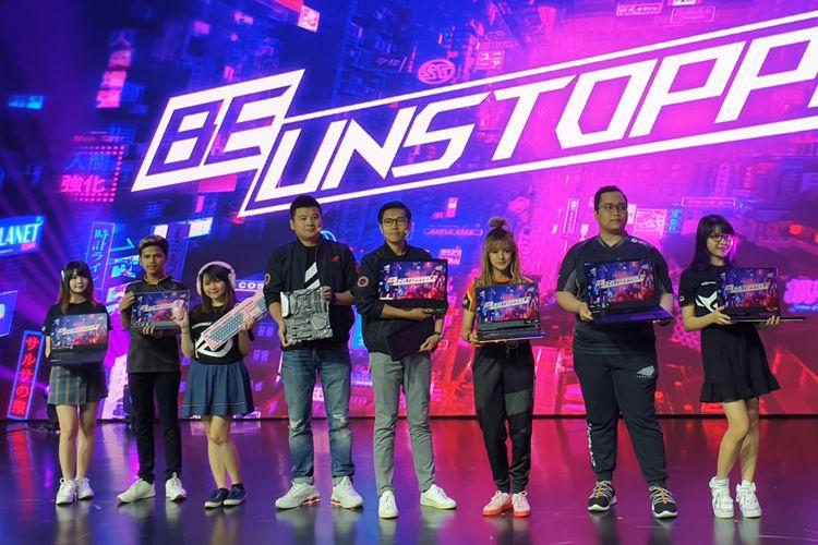 Ilustrasi peluncuran laptop gaming terbaru dari Asus. Para petinggi Asus bersama para brand ambassador menggenggam produk-produk terbaru Asus ROG di Jakarta, Kamis (11/7/2019).