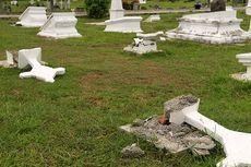 13 Batu Nisan Makam Serdadu Belanda di Aceh Rusak