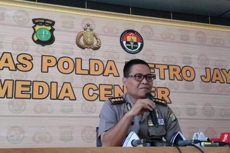 Kabid Humas Polda Metro Jaya Kombes Argo Yuwono di Mapolda Metro Jaya, Senin (7/8/2017).