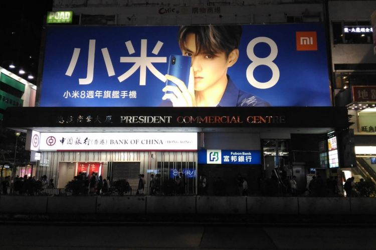 Billboard Xiaomi Mi 8 di Hongkong