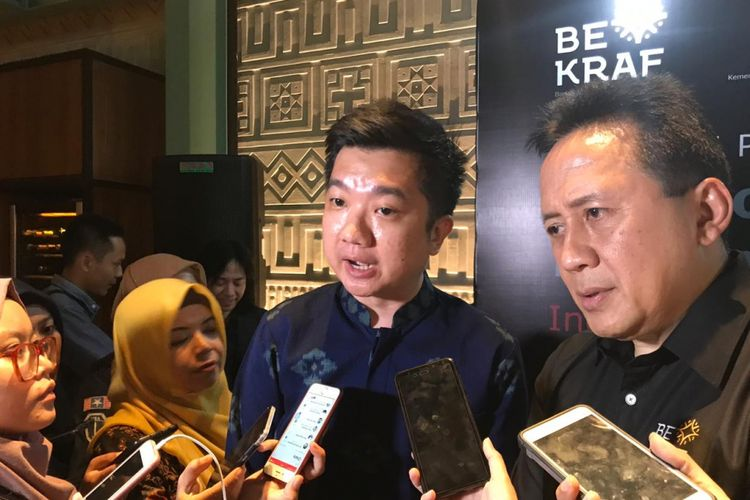 CEO Tokopedia William Tanuwijaya di konferensi pers World Conference on Creative Economy (WCCE) di Jakarta, Selasa (25/9/2018)