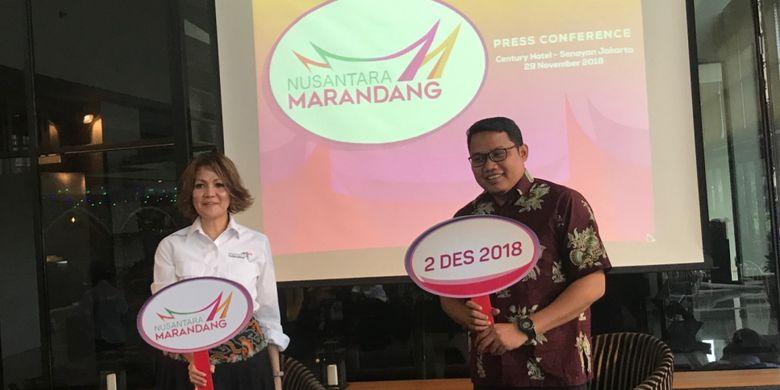 Konferensi pers festival kuliner Nusantara Marandang