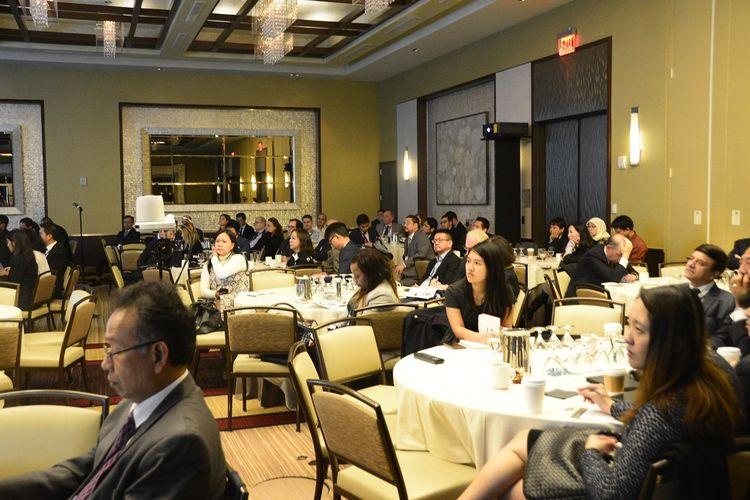 KJRI menggelar Business Forum on Trade, Tourism, and Investment di New York, Amerika Serikat, Kamis (8/11/2018)