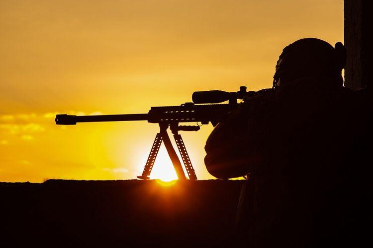 Ilustrasi penembak runduk.