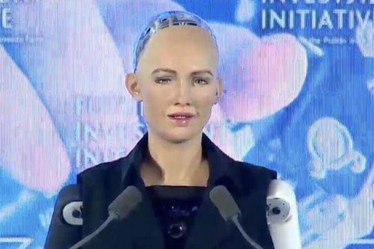 Robot Sophia yang mendapatkan status warga negara Arab Saudi.