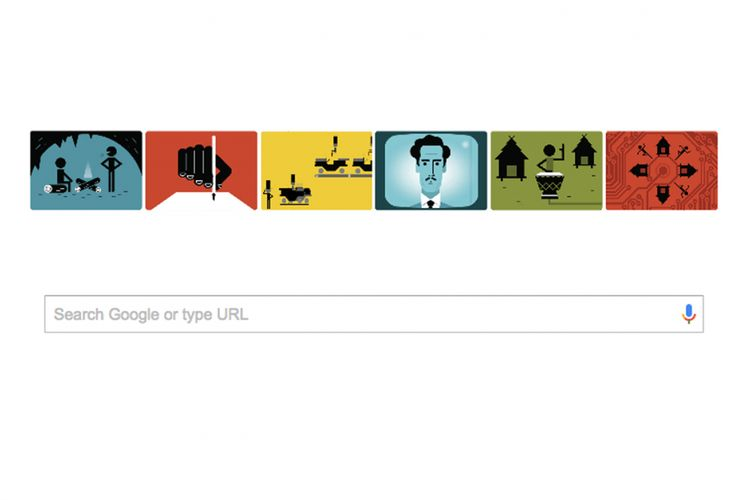 Google Doodle menampilkan Marshall McLuhan