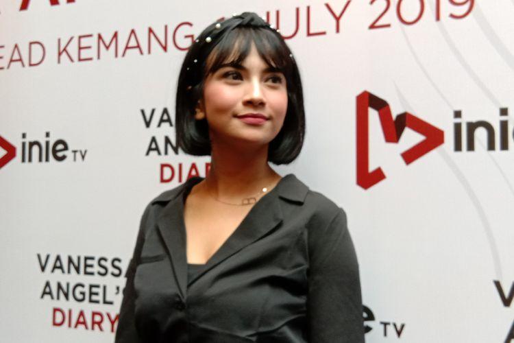 Vanessa Angel berpose di Queen Head, Kemang Raya, Jakarta Selatan, Kamis (11/7/2019).